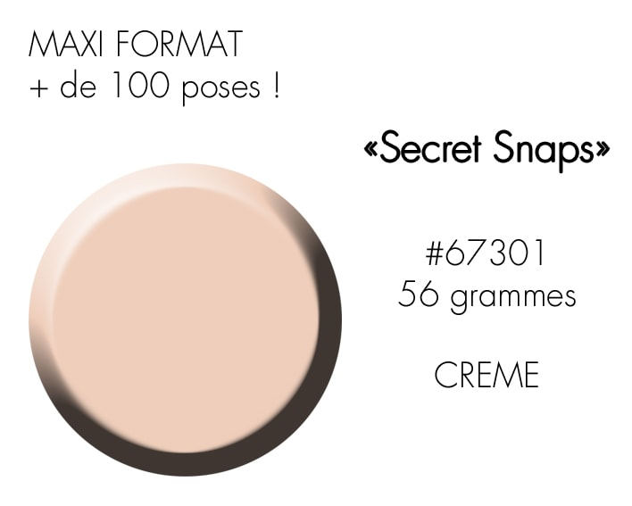 SECRET SNAPS 56GR : nude beige CLAIR