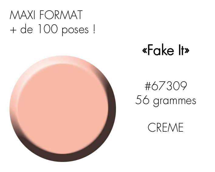 FAKE IT 56GR : nude beige rosé saumoné