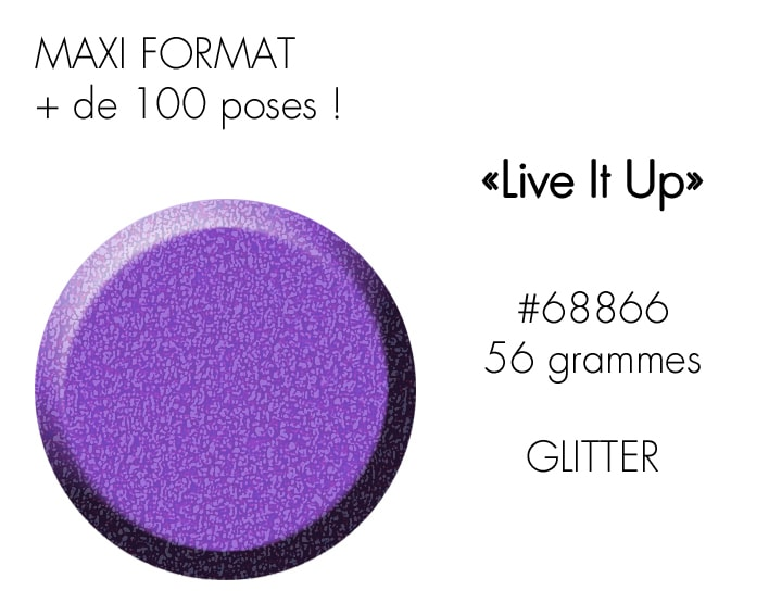 LIVE IT UP 56GR : violet paillettes acidulé