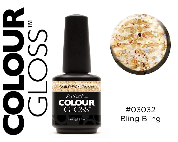COLOUR GLOSS BLING BLING / PAILLETTES OR