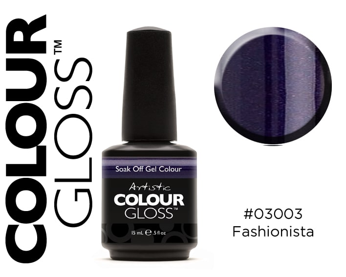 COLOUR GLOSS FASHIONISTA / VIOLET FONCÉ