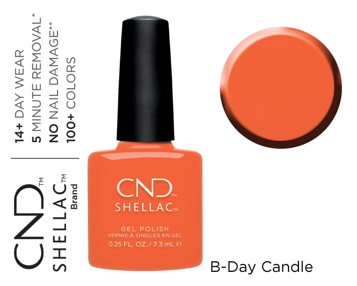 SHELLAC B-DAY CANDLE 7,3ML