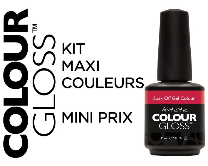 KIT 30 COULEURS  COLOUR GLOSS  15ml